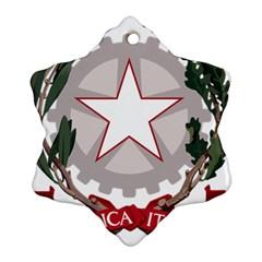 Emblem Of Italy Ornament (snowflake) by abbeyz71