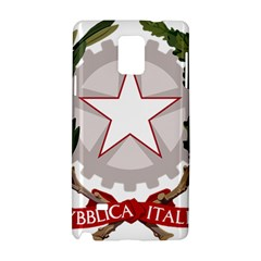 Emblem Of Italy Samsung Galaxy Note 4 Hardshell Case by abbeyz71