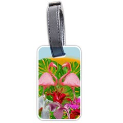 Flamingo Luggage Tags (two Sides) by Valentinaart