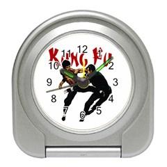 Kung Fu  Travel Alarm Clocks by Valentinaart