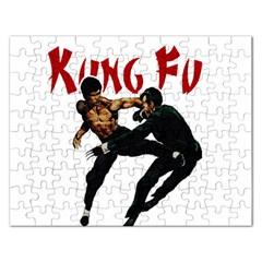 Kung Fu  Rectangular Jigsaw Puzzl by Valentinaart