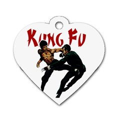 Kung Fu  Dog Tag Heart (one Side) by Valentinaart