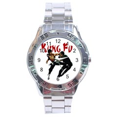Kung Fu  Stainless Steel Analogue Watch by Valentinaart