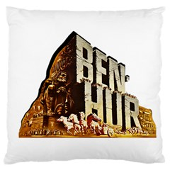 Ben Hur Large Flano Cushion Case (one Side) by Valentinaart
