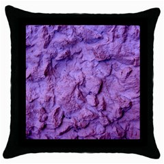 Purple Wall Background Throw Pillow Case (black) by Costasonlineshop