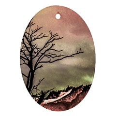 Fantasy Landscape Illustration Ornament (oval) by dflcprints