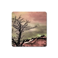 Fantasy Landscape Illustration Square Magnet by dflcprints