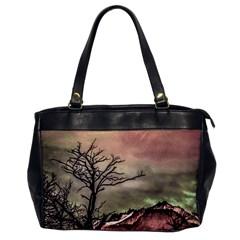 Fantasy Landscape Illustration Office Handbags by dflcprints