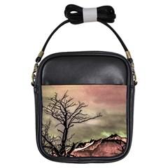 Fantasy Landscape Illustration Girls Sling Bags by dflcprints