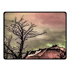 Fantasy Landscape Illustration Double Sided Fleece Blanket (small)  by dflcprints