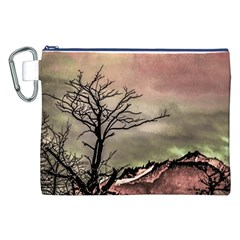 Fantasy Landscape Illustration Canvas Cosmetic Bag (xxl) by dflcprints