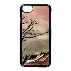 Fantasy Landscape Illustration Apple Iphone 7 Seamless Case (black) by dflcprints