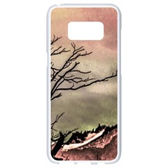 Fantasy Landscape Illustration Samsung Galaxy S8 White Seamless Case by dflcprints