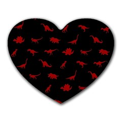 Dinosaurs Pattern Heart Mousepads by ValentinaDesign