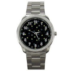 Cactus Pattern Sport Metal Watch by ValentinaDesign