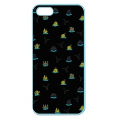 Cactus Pattern Apple Seamless Iphone 5 Case (color) by ValentinaDesign