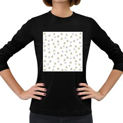 Cactus Pattern Women s Long Sleeve Dark T Shirts by ValentinaDesign