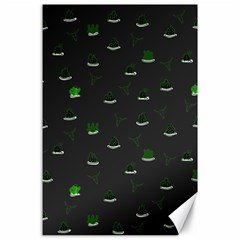 Cactus Pattern Canvas 24  X 36  by ValentinaDesign