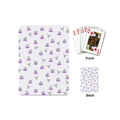 Cactus Pattern Playing Cards (mini)  by ValentinaDesign