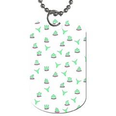 Cactus Pattern Dog Tag (two Sides) by ValentinaDesign