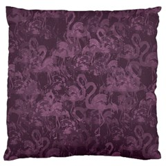 Flamingo Pattern Standard Flano Cushion Case (two Sides) by ValentinaDesign
