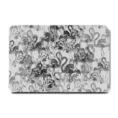 Flamingo Pattern Small Doormat  by ValentinaDesign