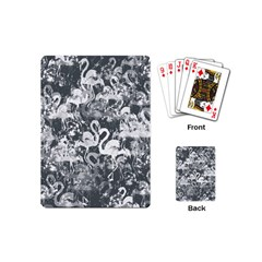 Flamingo Pattern Playing Cards (mini)  by ValentinaDesign
