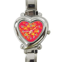 Flamingo Pattern Heart Italian Charm Watch by ValentinaDesign