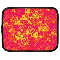 Flamingo Pattern Netbook Case (large) by ValentinaDesign