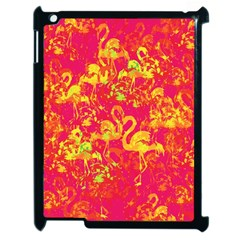 Flamingo Pattern Apple Ipad 2 Case (black) by ValentinaDesign