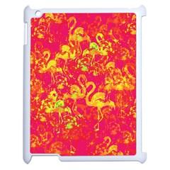 Flamingo Pattern Apple Ipad 2 Case (white) by ValentinaDesign