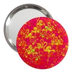 Flamingo Pattern 3  Handbag Mirrors by ValentinaDesign
