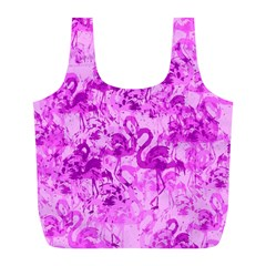 Flamingo Pattern Full Print Recycle Bags (l)  by ValentinaDesign