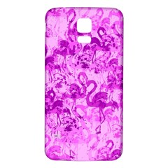 Flamingo Pattern Samsung Galaxy S5 Back Case (white) by ValentinaDesign