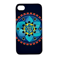 Abstract Mechanical Object Apple Iphone 4/4s Hardshell Case With Stand by linceazul