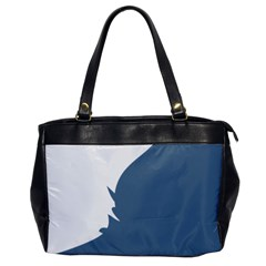 Blue White Hill Office Handbags by Mariart