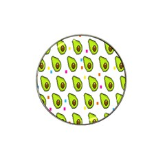 Avocado Seeds Green Fruit Plaid Hat Clip Ball Marker by Mariart