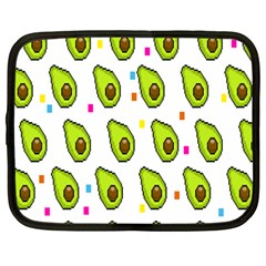 Avocado Seeds Green Fruit Plaid Netbook Case (large) by Mariart