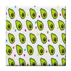 Avocado Seeds Green Fruit Plaid Face Towel by Mariart