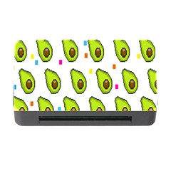 Avocado Seeds Green Fruit Plaid Memory Card Reader With Cf by Mariart