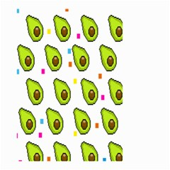 Avocado Seeds Green Fruit Plaid Small Garden Flag (two Sides) by Mariart