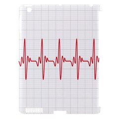 Cardiogram Vary Heart Rate Perform Line Red Plaid Wave Waves Chevron Apple Ipad 3/4 Hardshell Case (compatible With Smart Cover) by Mariart
