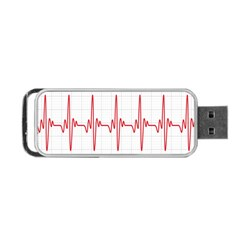 Cardiogram Vary Heart Rate Perform Line Red Plaid Wave Waves Chevron Portable Usb Flash (two Sides) by Mariart