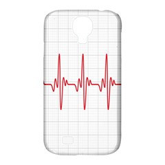 Cardiogram Vary Heart Rate Perform Line Red Plaid Wave Waves Chevron Samsung Galaxy S4 Classic Hardshell Case (pc+silicone) by Mariart