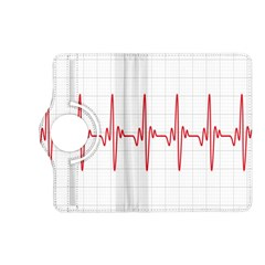 Cardiogram Vary Heart Rate Perform Line Red Plaid Wave Waves Chevron Kindle Fire Hd (2013) Flip 360 Case by Mariart