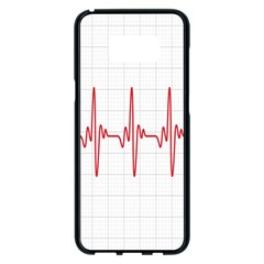Cardiogram Vary Heart Rate Perform Line Red Plaid Wave Waves Chevron Samsung Galaxy S8 Plus Black Seamless Case