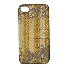 Wall Paper Old Line Vertical Apple Iphone 4/4s Hardshell Case With Stand by Mariart