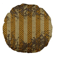 Wall Paper Old Line Vertical Large 18  Premium Flano Round Cushions by Mariart