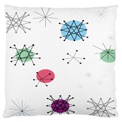 Atomic Starbursts Circle Line Polka Standard Flano Cushion Case (one Side) by Mariart