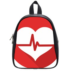 Cardiologist Hypertension Rheumatology Specialists Heart Rate Red Love School Bags (small)  by Mariart